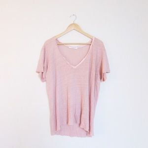 Project Social T saint tee in cameo rose linen